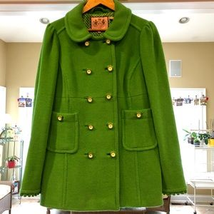 Juicy Couture Green Essex Pea Coat